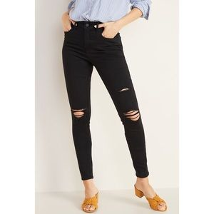 Old Navy High Rise Distressed Rockstar Jeans